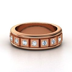 Check Mate Ring, Men's Rose Gold Ring with Diamond - Really quite obsessed with this for Doc...