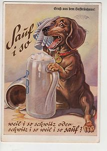 Beer Ad- that doxie is thirsty!!