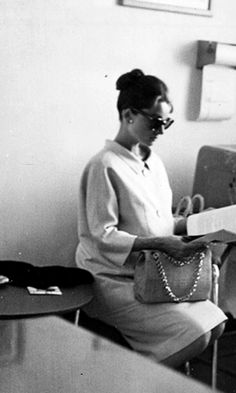 Audrey Hepburn, pregnant with her first son, Sean, photographed in Nice, France, 1960.