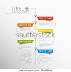 Vector Timeline Template  Timeline Presentation Design And