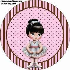 Jolie Ballerina - Complete Kit with invitation frames, labels for goodies, souvenirs and pictures! Decoupage, Ballet, Bottle Cap Images, Head Accessories, Printable Labels, Family Memories, Embroidery Art, Little Girls, Clip Art
