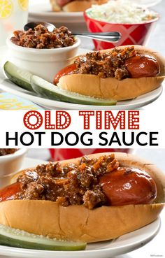 Dress up your hot dog with beefy, flavorful topping and you're sure to impress everyone at your summer potluck. This is one of our most popular hot dog sauces. Dog Recipes, Chili Recipes, Sauce Recipes, Cooking Recipes, Hot Dog Sauce, Coney Dog Sauce, Chilli Hot Dog, Hot Dogs, Chutney