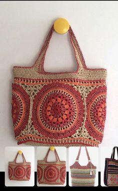 Crochet Clutch, Crochet Handbags, Crochet Purses, Mode Crochet, Crochet Market Bag, Bag Pattern Free, Knitted Bags, Crochet Blanket Patterns, Crochet Accessories