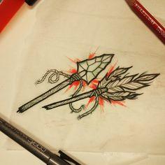 #brokenarrow for tomorrow #brokenarrowtattoo #arrowheadtattoo #arrowtattoo Arrow Head Tattoos, Game Of Thrones Tattoo, Broken Arrow, Sibling, Mary, Times, Instagram Posts, Brother