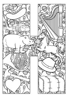 Things that start with H - Free Printable Coloring Pages