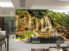 Photo Wallpaper MURAL Room Art Stone Waterfall Forest WALL DECOR Vietnam Poster #Unbranded