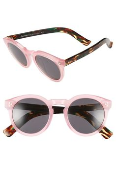 2e4f21f15179f9 Illesteva  Leonard II  50mm Round Mirrored Sunglasses Mirrored Sunglasses,  Sunglasses Women, Nordstrom