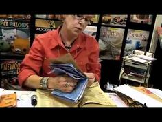 Cindy Shepard leads students through some of the techniques she uses to turn a paper bag and old envelopes into a fun art journal.