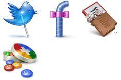 Social Treat Icons - Artwork by Iconka.com (Denis) Social Network Icons, Social Media Icons, Icon Set, Icon Design, Creative, Artwork, Unique, Blog, Wordpress