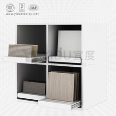 Careful selection and careful design, better highlight the characteristics of the product and the impulse of consumers in the heart, so as to play a role in selling products. Office Interior Design, Office Interiors, Tile Showroom, Decorative Tile, Wooden Flooring, Shelves, Display, Ceramics, Highlight