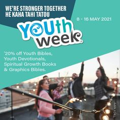 We're Stronger Together | He kaha tahi tatou. *20% off Youth Bibles, Graphic Bibles, Devotionals & Spiritual Growth Books for Youth. The sale is online and in-store. T&Cs apply. Shop manna.co.nz or in-store. . . #youthweek #youthweek2021 #hekahatahitatou #wearestrongertogether #youth #kiwikids #kiwilife #youthempowerment #spiritualgrowth #christianinspiration #youthministry #youthpastors #feedyourfaith #ReadHisWord #spiritualjourney #christianresources #mannachristianstores #biblesocietynz Christian Resources, Youth Ministry, Christian Inspiration, Spiritual Growth, Spirituality, Bible, How To Apply, Store, Children
