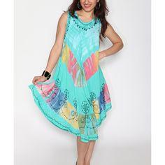 Shoreline Mint Tie-Dye Scoop Neck Shift Dress ($12) ❤ liked on Polyvore featuring dresses, shift dress, mint shift dress, tie dye dress, rayon dress and bohemian dress
