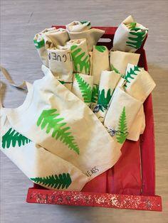 Estampem bosses amb pintura i plantilles
