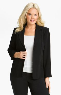 We welcome every plus-size professional woman who wants to build a closet of modern, elegant and well fitting work wear and invite you to visit www.executive-image-consulting.com for more information. Louben Seamed Jacket (Plus) available at Nordstrom