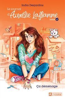 Le journal Aurélie Laflamme - Tome 6 - Ça déménage Manga Illustration, Journal, Book Stuff, Reading, Manicure, Drawings, Anime, Movies, Dibujo