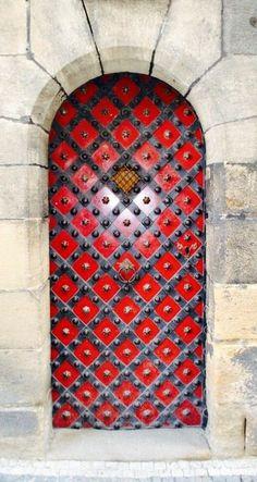 Stunning Red Door | door | | doors | | door decorations |    https://steeltablelegs.com