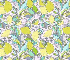 lemony fabric by megmelrose on Spoonflower - custom fabric
