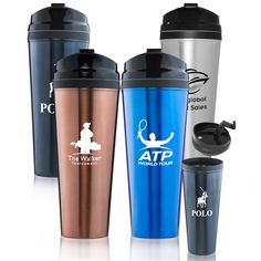Printed Travel Mugs Wholesale Personalized With Custom Logos – Free ...