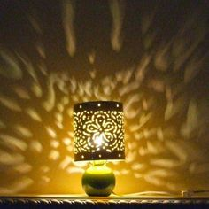 How to Recycle: Recycled Tin Can as Lanterns Recycled Lamp, Recycled Tin Cans, Repurposed, Paper Lampshade, Lampshades, Tin Can Crafts, Kids Crafts, Tin Can Lanterns, Recycle Cans