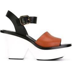Marni colour-block sandals - Nero Para El Descuento Barato h35aFh