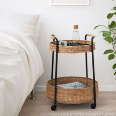 LUBBAN Rolltisch mit Aufbewahrung Rattan, anthrazit IKEA can be power associated with furniture and has Rattan Furniture, Handmade Furniture, Indoor Furniture Ideas, Gladom Ikea, Trolley Table, Ikea Trolley, Catalogue Ikea, Recycling Facility, Serving Cart