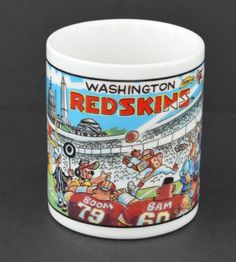 Washington Redskins Cartoon NFL Football Team Stadium Ceramic Coffee Mug Fan