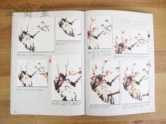 T28iN3XYdXXXXXXXXX_!!238327667 E Auto, Japanese Painting, Chinese Painting, Study Techniques, Chinese Brush, Painted Books, Ink Art, Cherry Blossom, Plum