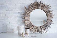 seashell craft ideas driftwood starburst mirror