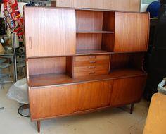 Mid-Century Furniture Warehouse: Danish teak hutch