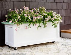 Diy Wooden Planter On Wheels