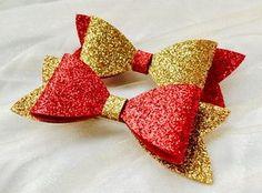 Christmas hair bows Christmas bows Christmas hair clip glitter