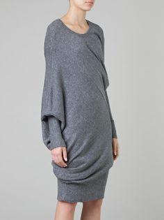 Vestido reversível de tricô - pode ser usado como blusa, vestido curto ou longo ::: Reversible dress - can be worn as top, short or long dress ::: #UMAOutonoInverno14