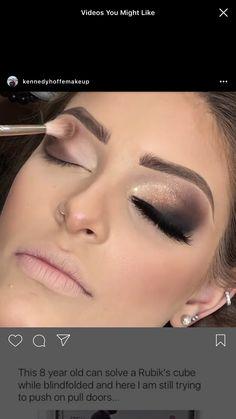 Makeup looks – Lush Makeup Ideas Edgy Makeup, Glamorous Makeup, Eye Makeup Tips, Makeup Goals, Eyeshadow Makeup, Makeup Art, Beauty Makeup, Hair Makeup, Evening Eye Makeup