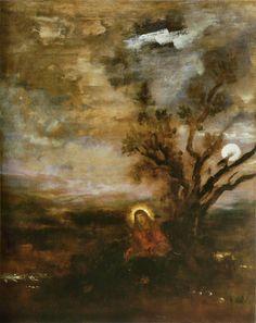 Gustave Moreau - Le Christ au jardin des Oliviers c.1880