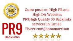Backlinks on https://www.fiverr.com/jannamorrison/create-manually-high-quality-pr9-safe-backlinks