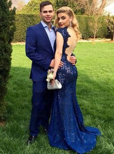 Prom Dress For Teens, Mermaid Deep V-Neck Sweep Train Cap Sleeves Backless Royal Blue Lace Prom Dress, cheap prom dresses, beautiful dresses for prom. Best prom gowns online to make you the spotlight for special occasions. Backless Mermaid Prom Dresses, Blue Lace Prom Dress, Royal Blue Prom Dresses, Open Back Prom Dresses, Blue Evening Dresses, Prom Dresses 2017, Backless Prom Dresses, Mermaid Evening Dresses, Cheap Prom Dresses