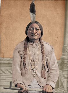 Sitting Bull, colorized Photo, David F. Native American Decor, Native American Pictures, Native American Wisdom, American Indian Art, Native American History, Native American Indians, Sitting Bull, Sioux, Arte Tribal