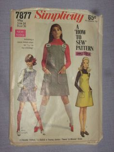 Pattern Jumper and Mini-Pant Jumper, Size Cut Simplicity Patterns, Top Stitching, Top P, Vintage Sewing Patterns, The Ordinary, Stitch Patterns, Size 14, Jumper, Nook