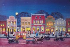 Mary Singleton Painting -Friday Night Downtown
