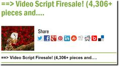==> Video Script Firesale! (4,306+ pieces and….