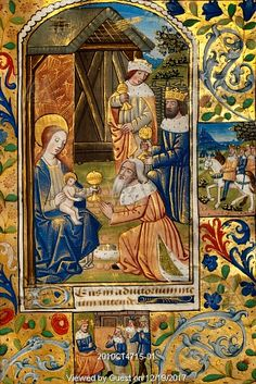 The Adoration of the Magi.Book of Hours, Rouen, France, c. 1500-1510