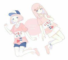 kawaii, anime, and pink image Kawaii Art, Kawaii Anime, Manga Art, Anime Art, Chibi, Pink Images, Pastel Art, Anime Couples, Cute Art
