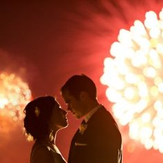 When planning a wedding on Canada Day ... expect fireworks.
