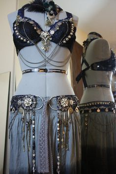 Custom Bellydance Belt Tribal Fusion Belly Dance von theverdantmuse, $250,00