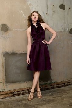 WTOO This is totally different but super cute, Dress 165 in Aubergine