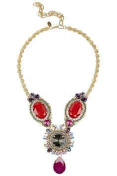 "#EricksonBeamon ""Foxy"" Swarovski crystal necklace"
