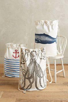 Summer Sea Laundry Bag