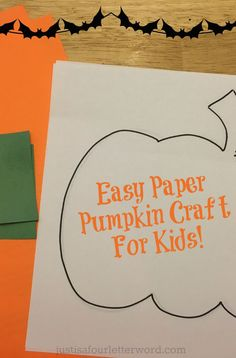 Check out these easy paper pumpkin crafts for kids. Great for lazy fall mornings and most use craft supplies you probably already have at home. Pumpkin Crafts Kids, Easy Fall Crafts, Crafts For Kids To Make, Fall Diy, Kids Crafts, Fun Fall Activities, Halloween Celebration, Halloween Fun, Paper Pumpkin