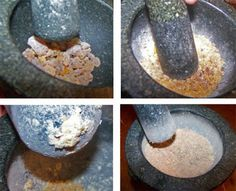 If a little resin gets gummy and sticks to the tip of the pestle, just scrape it off.