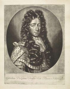 Pieter van den Berge   Portret van Willem III, prins van Oranje-Nassau, koning van Engeland, Pieter van den Berge, 1692 - 1737   Portret van Willem III, prins van Oranje-Nassau en sinds 1689 koning van Engeland. Hij draagt het ordeteken van de Kouseband.